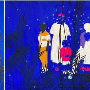 AFIKARIS Gallery Goes Blue for Cameroonian Artist Moustapha Baidi Oumarou's 1st Solo Show in Franc