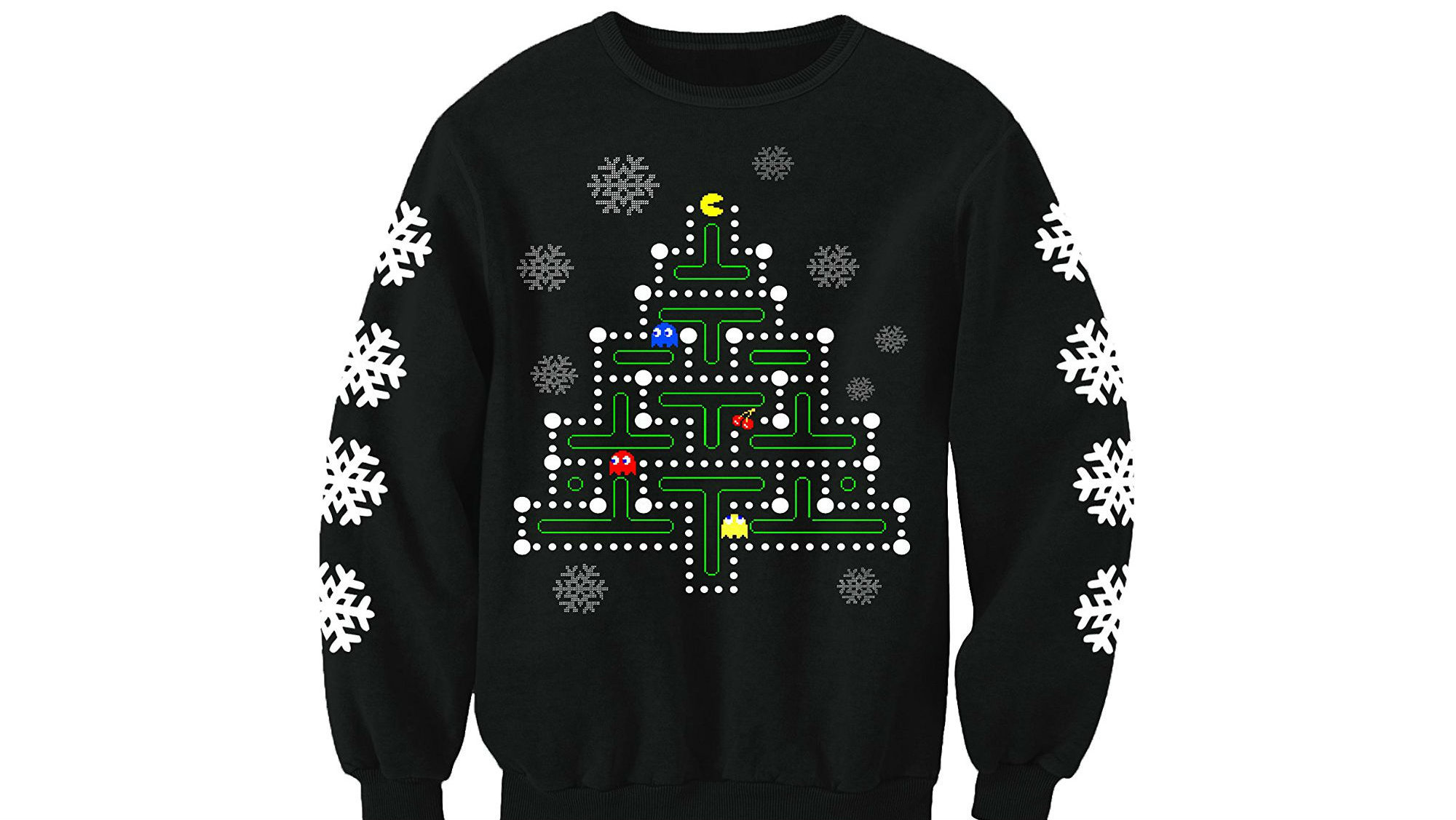 Any retro loving pac man fans out there? If so then why not mix pleasure with Christmas and get this beauty of a jumper for just £19.99.  https://www.amazon.co.uk/Christmas-Inspired-Novelty-Printed-Sweatshirt/dp/B01M9FYLNT