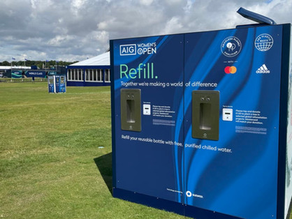The AIG Women's Open raises the bar on increased sustainability with water refill station