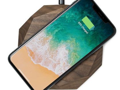 Oakywood - Solid wood fast QI wireless charging pad