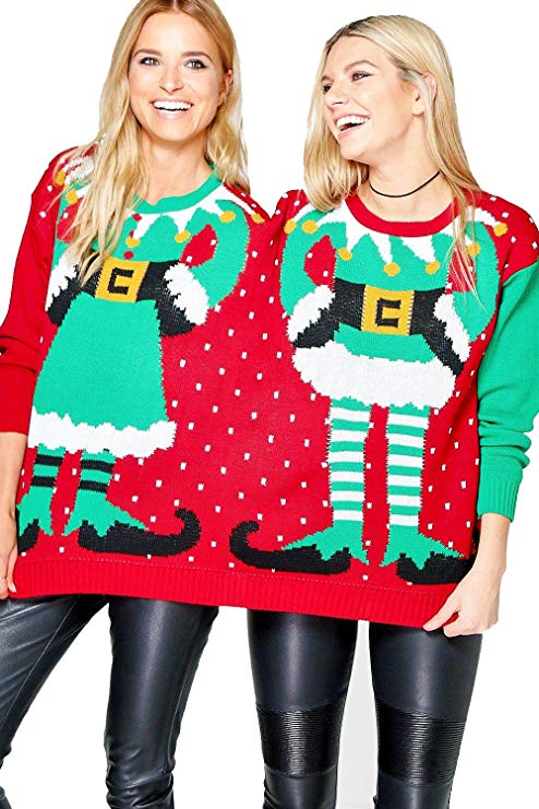This Jumper is perfect for BFF's why pay money for a jumper each when you can spend less sharing one! You could be conjoined elves this Christmas for just £20.99