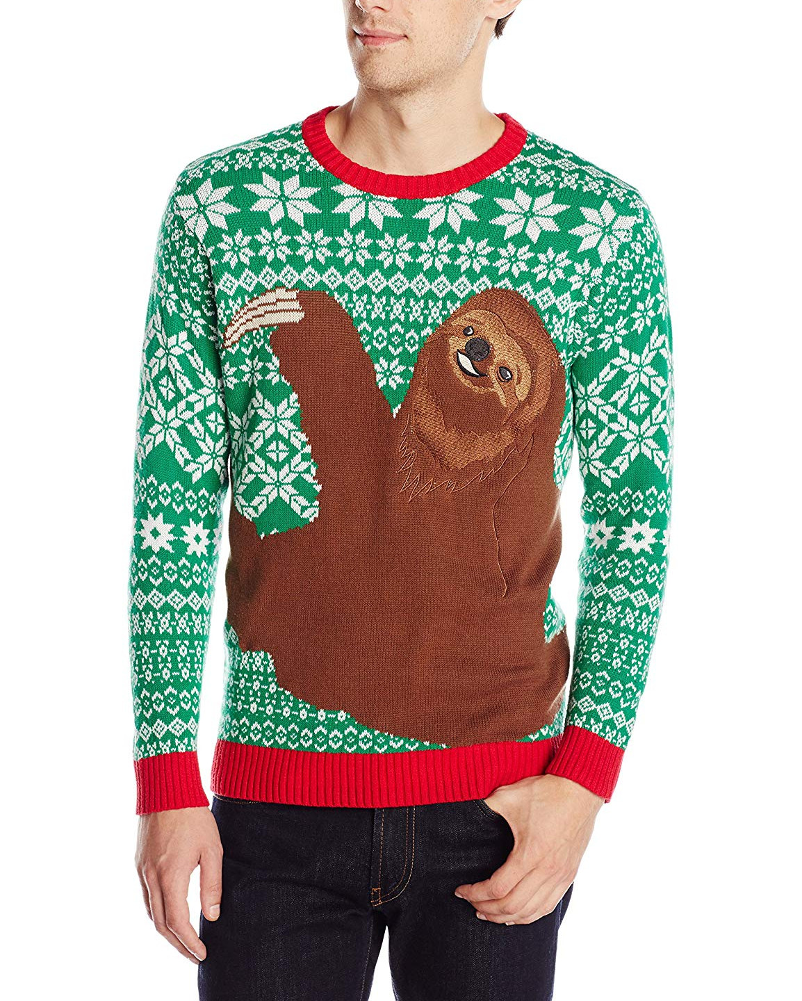 Just missing out on the top spot is this cute Sloth Christmas Jumper. We are calling it now Christmas 2018 the Sloth will dominate! You can't say anything bad about how cute this creatures look. You can get this on for just $39.99 https://www.amazon.com/Blizzard-Bay-Sloth-Christmas-Sweater/dp/B013AW7P52