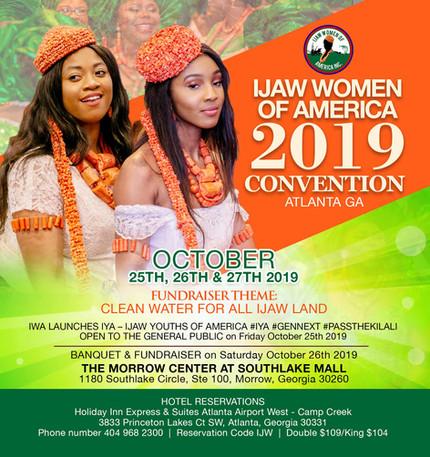 You are invited to IWA Convention 2019 in Atlanta Georgia