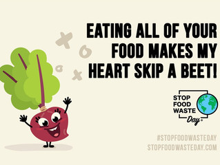 Celebrate Stop Food Waste Day.