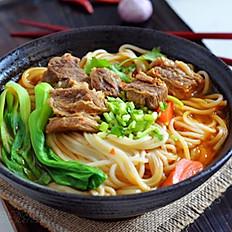 Beef Brisket Soup Noodle Spinach