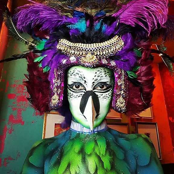 Body Paint Costume Bird Feather Dancer