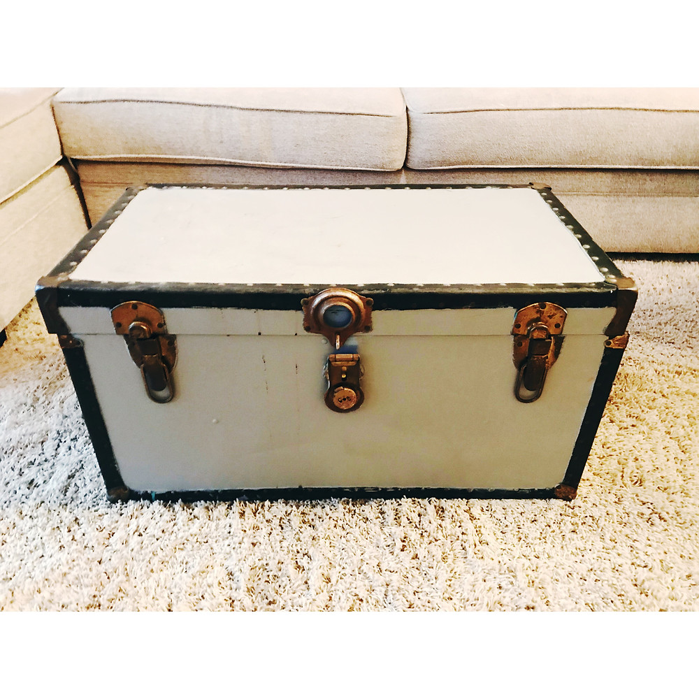 The trunk from the thrift store.