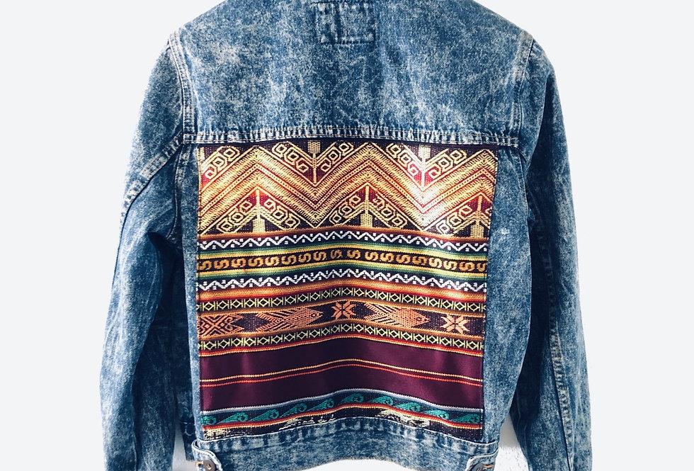 Vintage denim jacket up-cycle