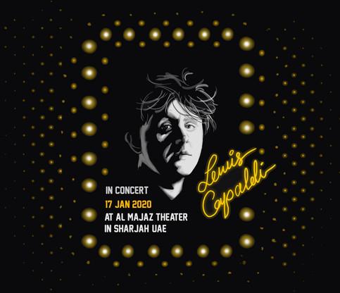 Lewis Capaldi Concert Poster Design