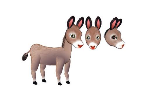 "Donkey design for ""Animal Farm"""
