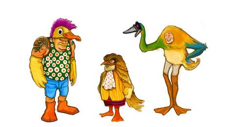Bird men Costume Designs