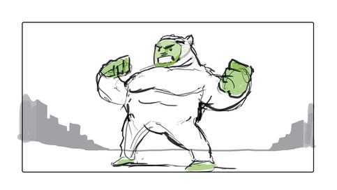Hulk sequence Animatic