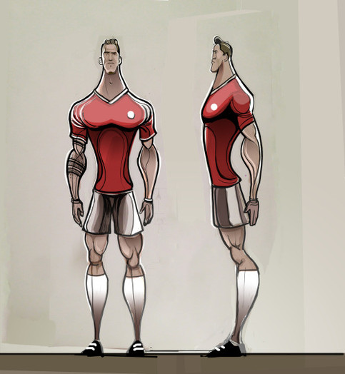 Footballer design Poses