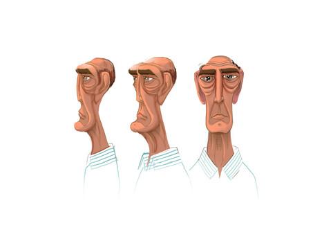 Old man face studies
