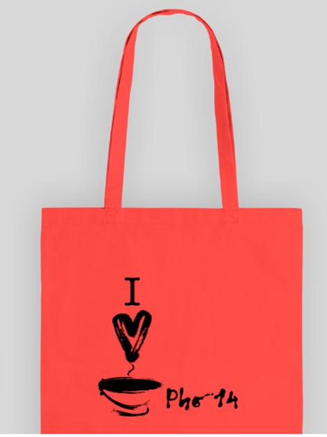 I heart pho 14 togo bag