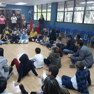 In this storytelling session, students and parents participated actively.