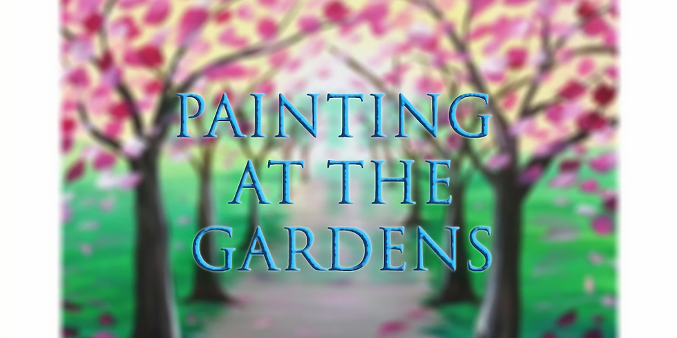 PAINTING A SPRING PATH IN THE GARDENS