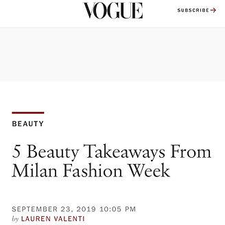 Milan Fasion Week Hair