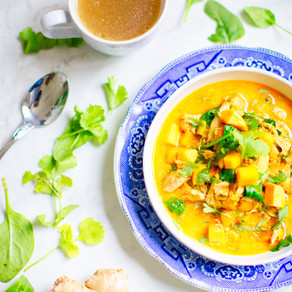 Healthy and quick vegetarian curry