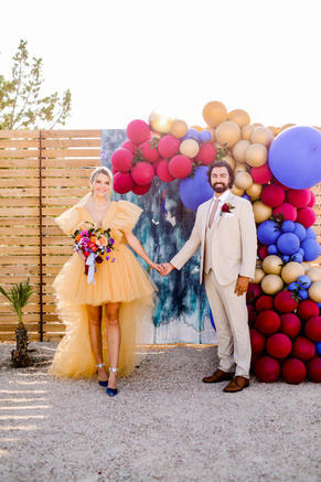 Joshua Tree Wedding Shoot (photo c/o Lauren Dinh at Playful Soul Photography) featured on 100 Layer Cake