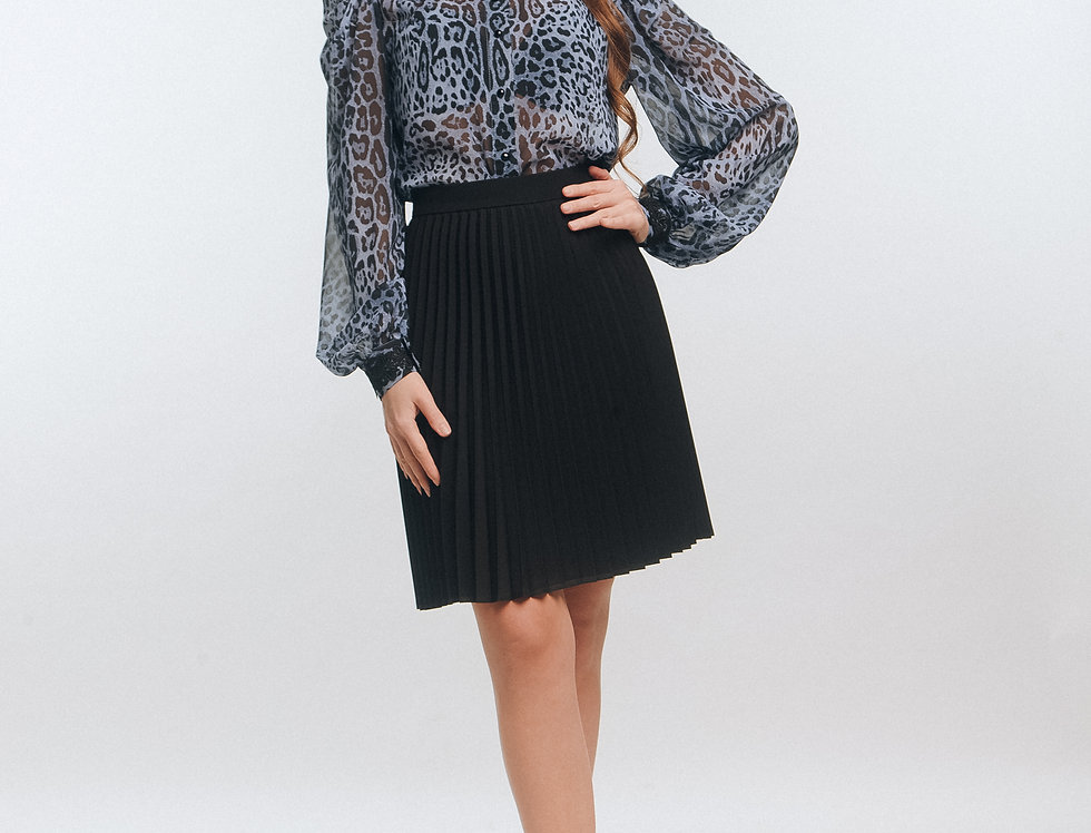 Mini Skirt with classic shirt