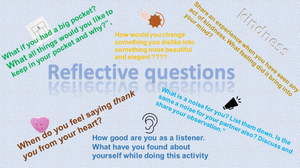 reflective questions along with tasks