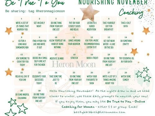 Nourishing November - Self-Care Poster