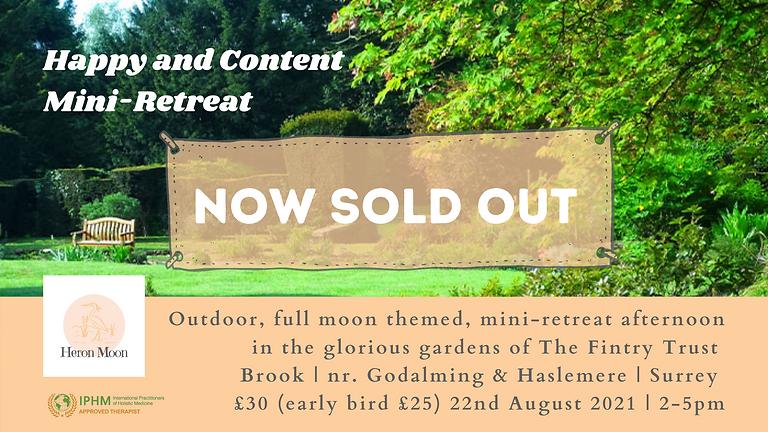 Happy and Content Mini-Retreat