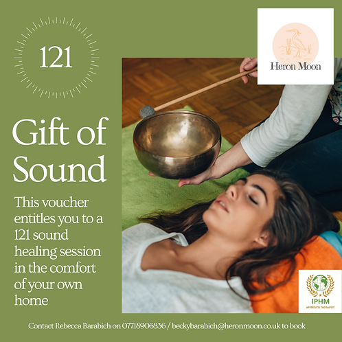 121 Sound Healing Session - 1 hour