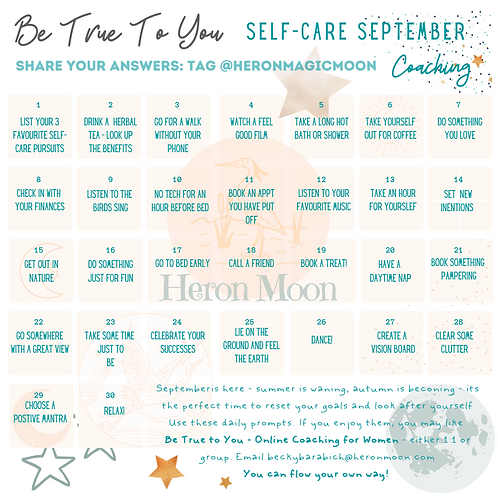 Be True to You Poster - Self-Care September