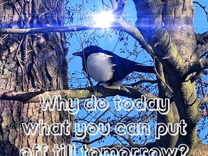 Why do today what you can put off till tomorrow?