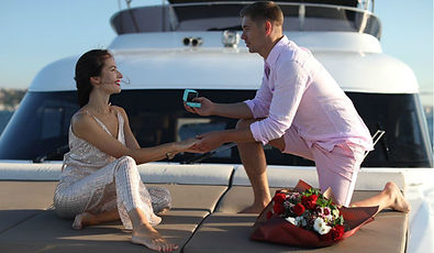 Engagement on a yacht