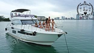 Bachelorette party on a yacht