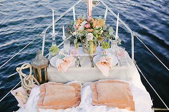 Anniversary on the yacht