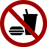 Fast food prohibited sign