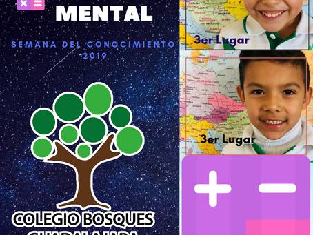 Ganadores del concurso de calculo mental