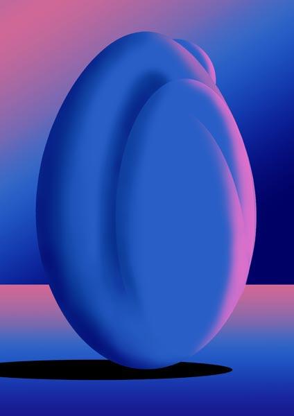 Femme-coco bleu chaud
