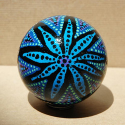 Boule de noël étoile bleue