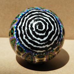 Boule de noël spirale noire