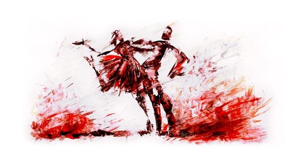 Vent d'amour rouge
