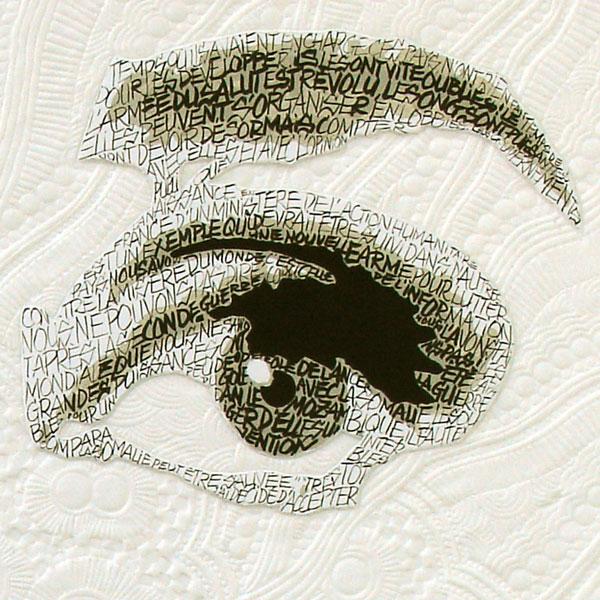 Audrey Hepburn détail calligraphie