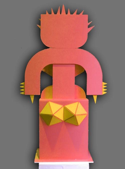 La grande jaune de dos
