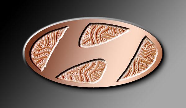 H de bronze Hyundai