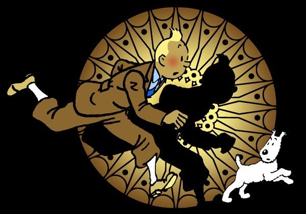 Hommage à Tintin et Milou