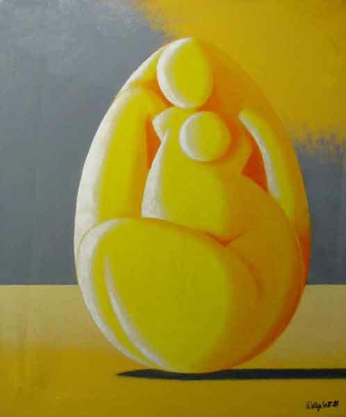 Femme-coco jaune