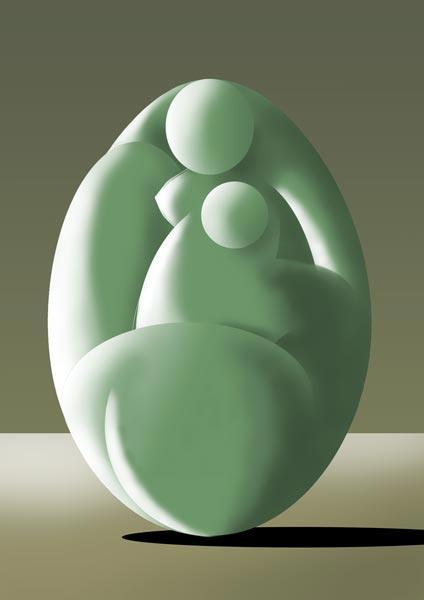 Femme-coco gris-vert