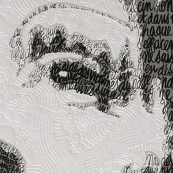 Marlène Dietrich détail sculpture