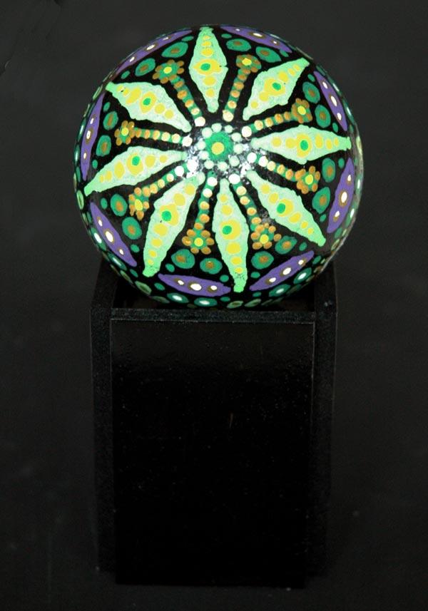 Boule de noël fleur verte
