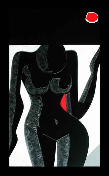 Femme au soleil rouge