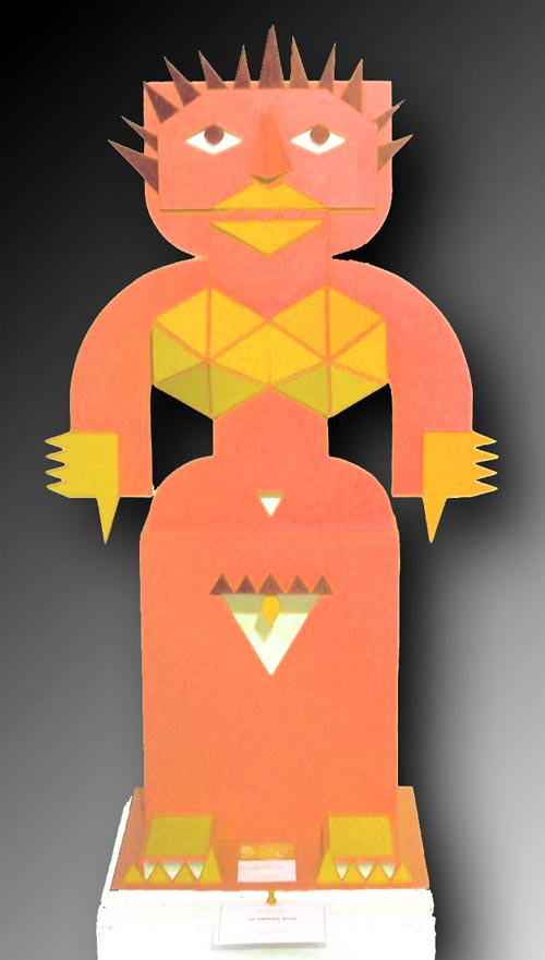 La grande jaune de face